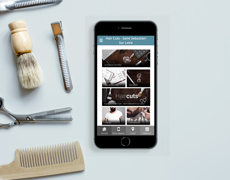 Bienvenue sur l'application mobile de votre salon barbier!
